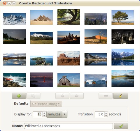 The main Create Background Slideshow window.